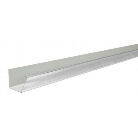 Желоб прямоугольный 2,5м Grand Line Vortex 127мм RAL 9003 - фото #1