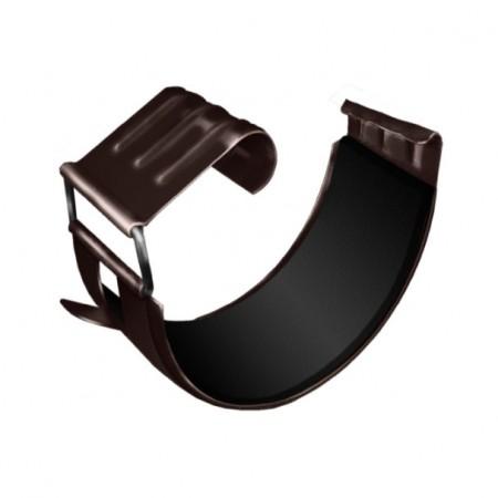 Соединитель желоба Grand Line Optima 125мм RR 32 (Темно-коричневый) - фото #1
