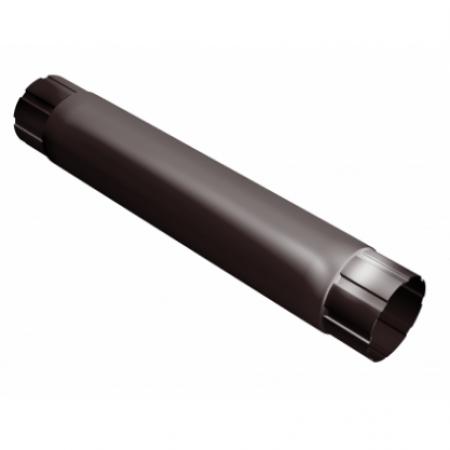 Труба круглая соединительная 90 мм 1м Grand Line RAL 8017 (Шоколад) - фото #1