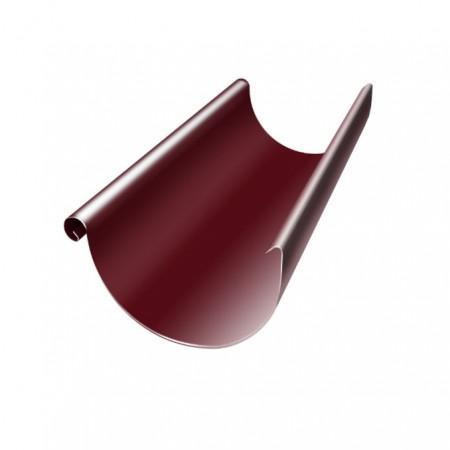 Желоб полукруглый 125 мм 3м Grand Line RAL 3005 (Красное вино) - фото #1