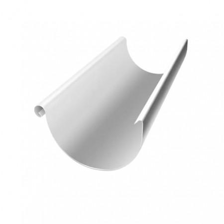 Желоб полукруглый 125 мм 3м Grand Line RAL 9003 (Сигнальный белый) - фото #1