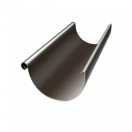 Желоб полукруглый Grand Line Optima 125мм 3м RR 32 (Темно-коричневый) - фото #1