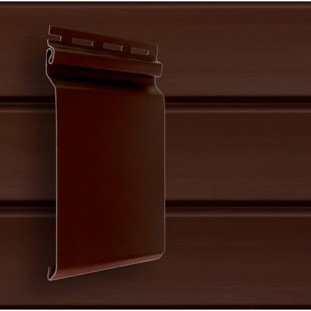 Сайдинг акриловый Гранд Лайн Natural-Брус S7 Темный дуб (АСА) - фото #1