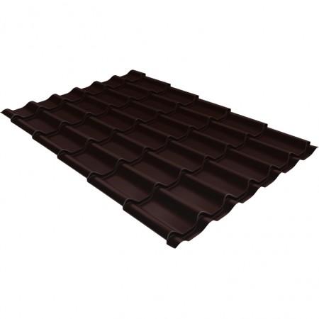 Металлочерепица Классик 0,5 PurPro Matt RAL 8017 Шоколад - фото #1