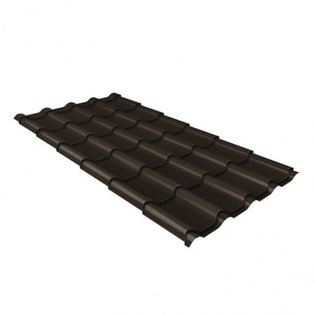 Металлочерепица Камея 0,5 PurPro Matt RR32 Темно-коричневый - фото #1
