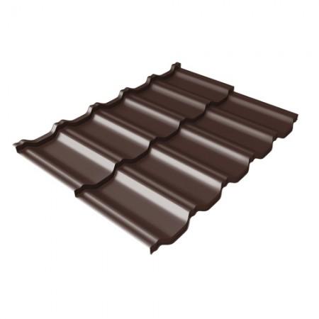 Металлочерепица Kvinta Uno 0,5 PurPro Matt RAL 8017 Шоколад - фото #1