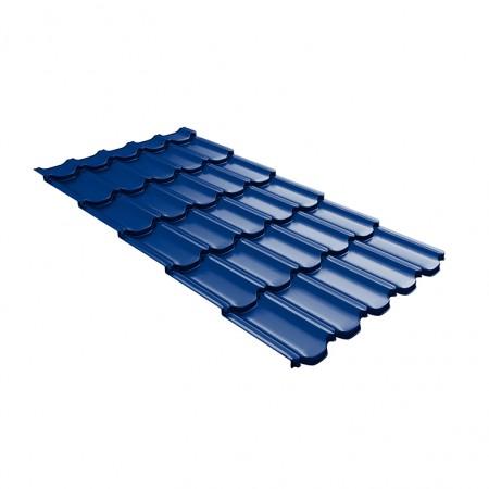 Металлочерепица GL Квинта Плюс c 3D резом 0,45 Polyester RAL 5002 Ультрамарин - фото #1