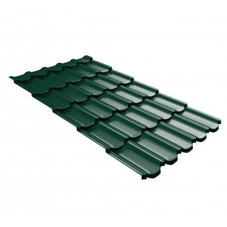 Металлочерепица GL Квинта Плюс c 3D резом 0,5 Quarzit RAL 6005 Зеленый мох - фото #1