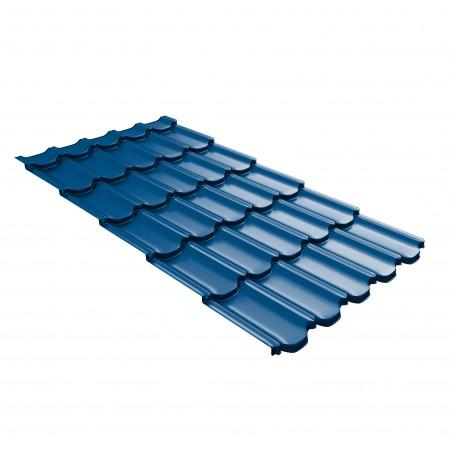 Металлочерепица GL Квинта Плюс c 3D резом 0,45 Polyester RAL 5005 Синий насыщенный - фото #1