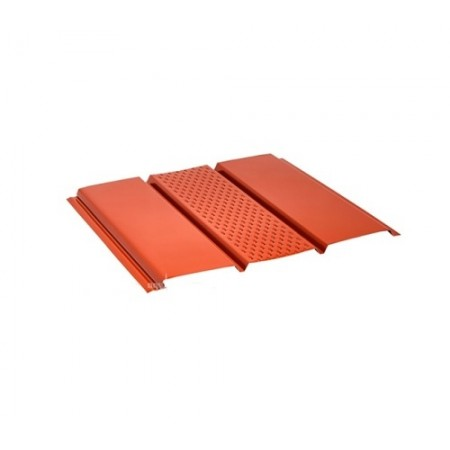 Софит стальной с центральной перфорацией Pural красный RR29 - фото #1