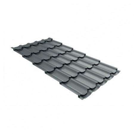 Металлочерепица Квинта плюс 0,45 Polyester RAL 7005 Мышино-серый - фото #1