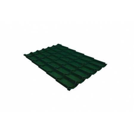 Металлочерепица Монтеррей 0,4 Polyester RAL 6005 Зеленый мох - фото