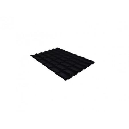 Металлочерепица Классик 0,45 Drap RAL 9005 Черный - фото #1
