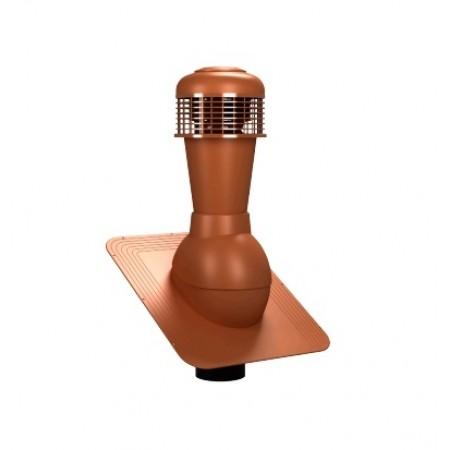 К-42 Вентиляционный выход НЕИЗОЛИРОВАННЫЙ (неутепленный) с электрическим вентилятором 305 куб.м./час D 110 мм Н 500 мм - фото