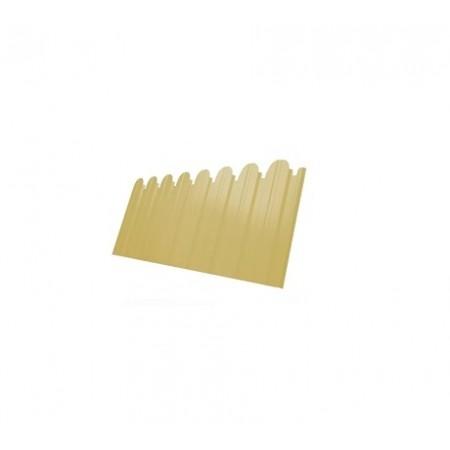 Профнастил С10B фигурный Полиэстер 0,45 сталь RAL 1014 - фото #1