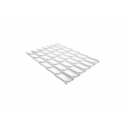 Металлочерепица Монтеррей 0,45 Polyester RAL 9003 Cигнальный белый - фото