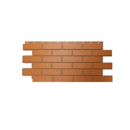 Фасадная панель Nordside Гладкий кирпич Красный - фото