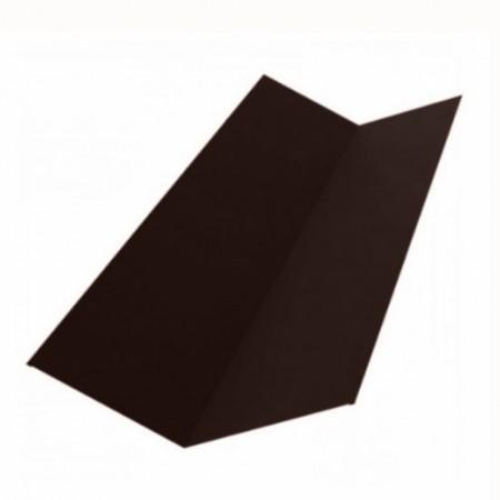 Планка ендовы верхней 145х145 Grand Line 0,5 GreenCoat Pural Matt - фото #1