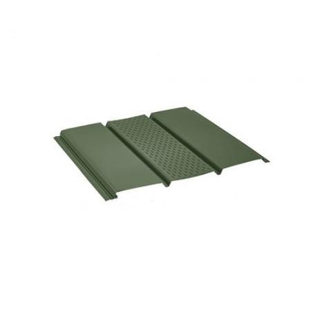 Софит стальной с центральной перфорацией Pural Темно-зеленый RR11 - фото #1