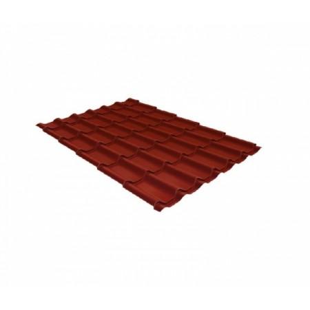 Металлочерепица Монтеррей 0,45 Polyester RAL 3009 Оксидно-красный - фото