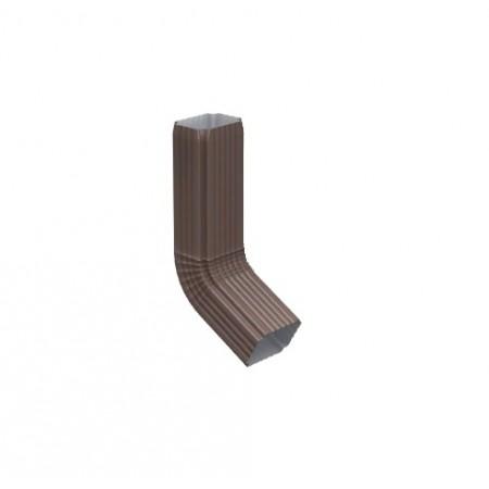 Труба водосточная с коленом Металл Профиль 76х102х1000 0,5 мм ПЭ - фото #1