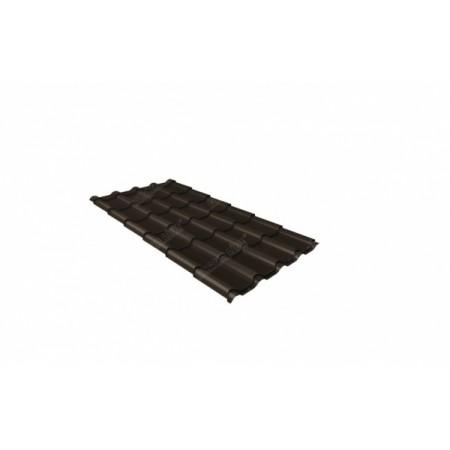 Металлочерепица Камея 0,45 Drap RAL RR 32 Темно-коричневый - фото