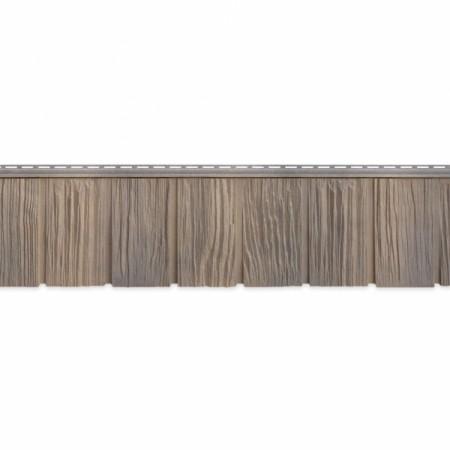 Фасадная (цокольная) панель Grand Line Сибирская дранка Железо - фото