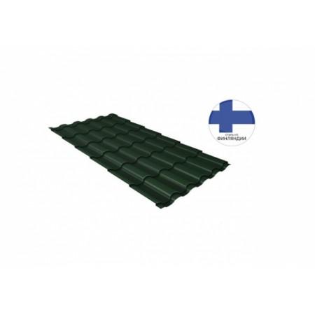 Металлочерепица Кредо 0,5 GreenСoat Pural Matt RR 11 Темно-зеленый RAL 6020 хромовая зелень - фото #1