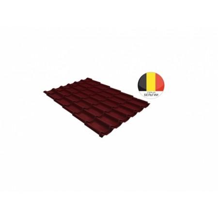 Металлочерепица Классик 0,5 Quarzit RAL 3005 Красное вино - фото