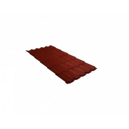 Металлочерепица Квинта плюс 0,5 Satin RAL 3009 Оксидно-красный - фото