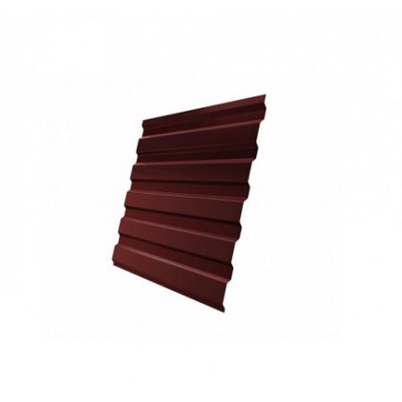 Профнастил С20В Полиэстер 0,4 сталь RAL 3005 - фото