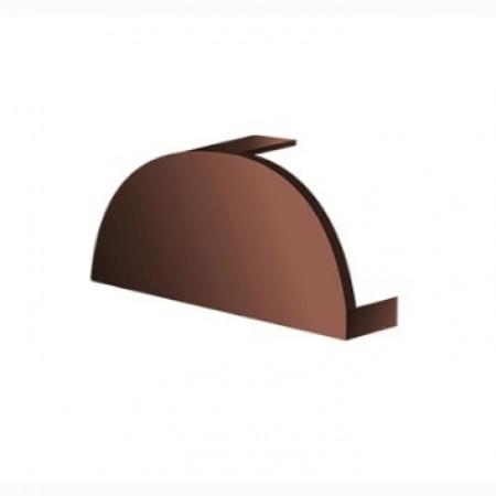 Заглушка конька круглого простая МеталлПрофиль Colorcoat Prisma - фото #1