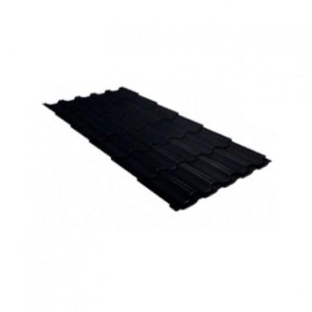Металлочерепица Квинта плюс 0,5 Satin Matt RAL 9005 Черный - фото