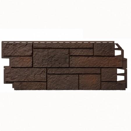 Фасадная (цокольная) панель VOX SOLID SANDSTONE Dark Brown - фото #1