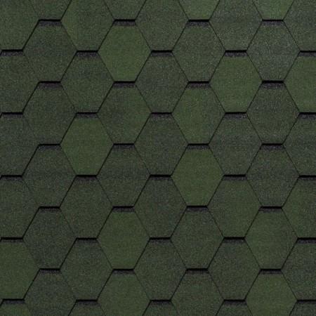 Гибкая черепица Tegola Смальто Зеленый - фото