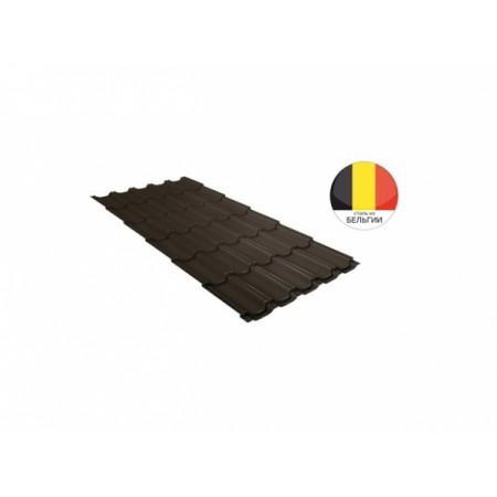 Металлочерепица Квинта плюс 0,5 Quarzit lite RR 32 Темно-коричневый - фото #1