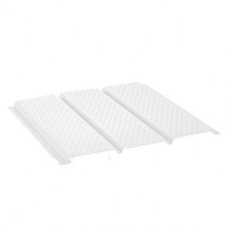 Софит стальной с полной перфорацией Polyester Белый RR20 - фото