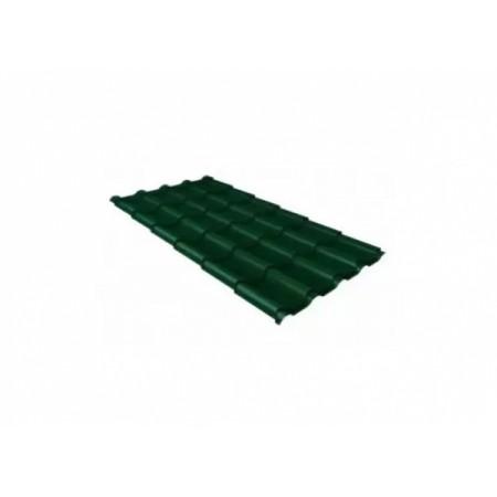 Металлочерепица Камея 0,45 Polyester RAL 6005 Зеленый мох - фото