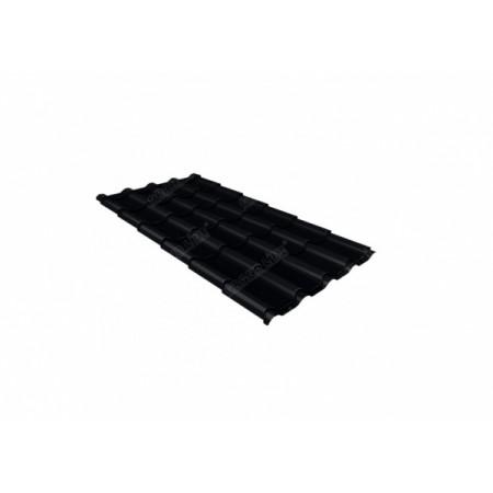 Металлочерепица Камея 0,45 Drap RAL 9005 Черный - фото