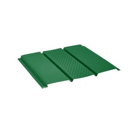 Софит стальной с центральной перфорацией Pural Зеленый RAL6005 - фото #1