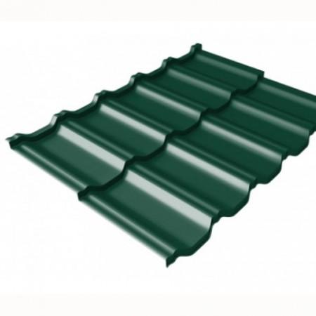 Металлочерепица Kvinta Uno 0,5 Quarzit Lite RAL 6005 Зеленый мох - фото #1