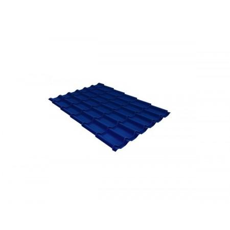 Металлочерепица Классик 0,5 Satin RAL 5005 Сигнальный синий - фото