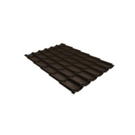 Металлочерепица Квинта плюс 0,5 PurLite Matt RR 32 Темно-коричневый - фото #1