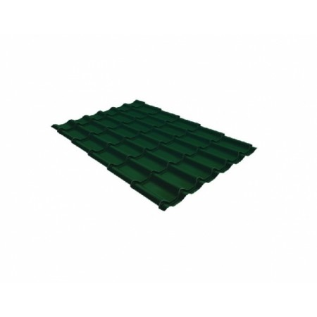 Металлочерепица Монтеррей 0,45 Polyester RAL 6005 Зеленый мох - фото