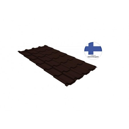 Металлочерепица Камея 0,5 GreenCoat Pural Matt RR 887 Шоколадно-коричневый RAL 8017 Шоколад - фото #1