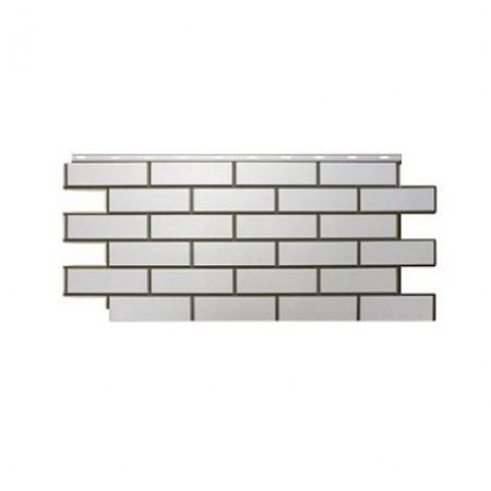 Фасадная панель Nordside Гладкий кирпич Белый - фото