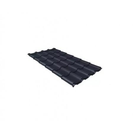 Металлочерепица Камея 0,45 Polyester RAL 7024 Мокрый асфальт - фото