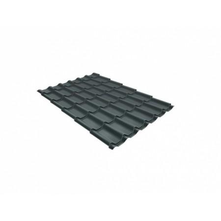 Металлочерепица Монтеррей 0,45 Polyester RAL 7005 Мышино-серый - фото