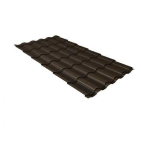 Металлочерепица Кредо 0,5 Satin Matt RR 32 Темно-коричневый - фото #1