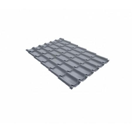 Металлочерепица Классик 0,5 Satin RAL 9006 Бело-алюминиевый - фото